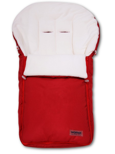 Lábzsák Womar - fleece - piros