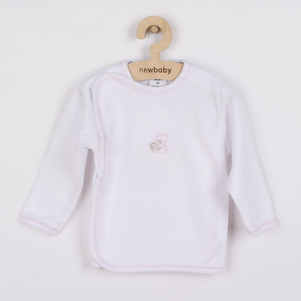 Csecsemő ingecske hímzett képpel New Baby rózsaszín