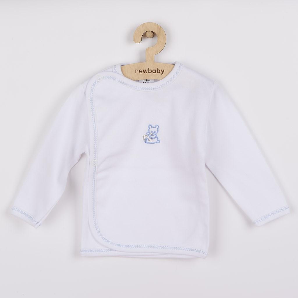 Csecsemő ingecske hímzett képpel New Baby kék
