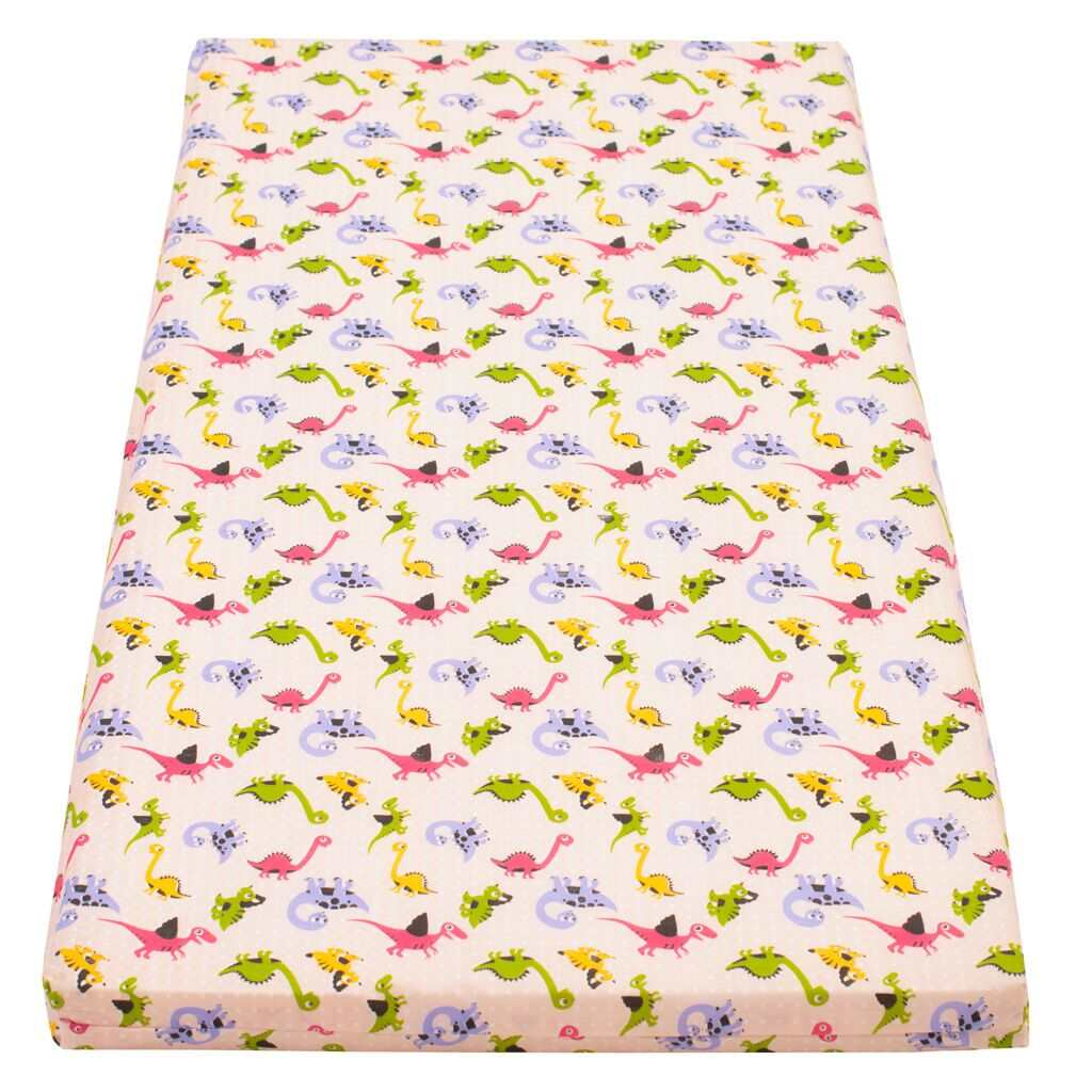 Gyerek matrac New Baby 120x60 hab-kókusz rózsaszín mintákkal