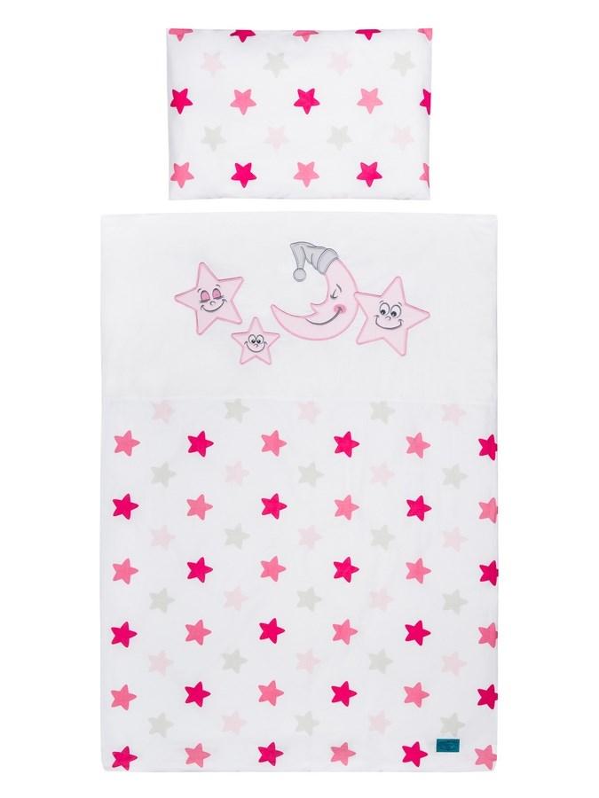 5-részes ágyneműhuzat Belisima Vidám csillagok 90/120 rózsaszín