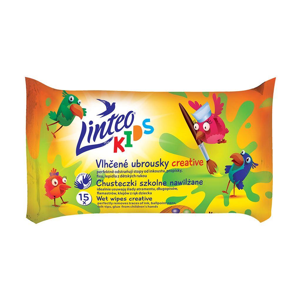 Nedves törlőkendő Linteo Baby Kids 15 db