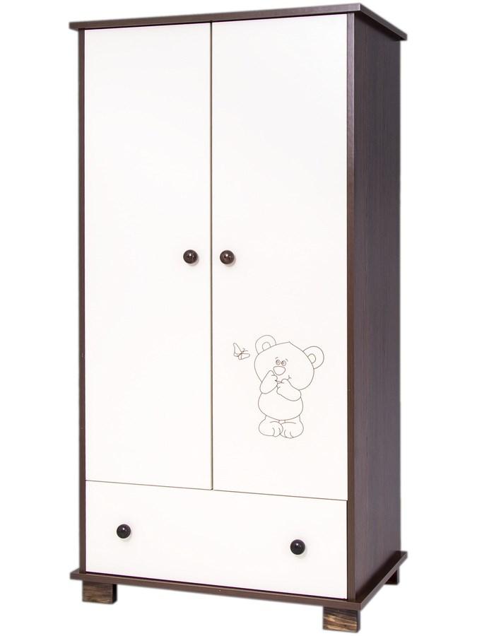 Gyermek szekrény Drewex Kis maci és pillangó dió
