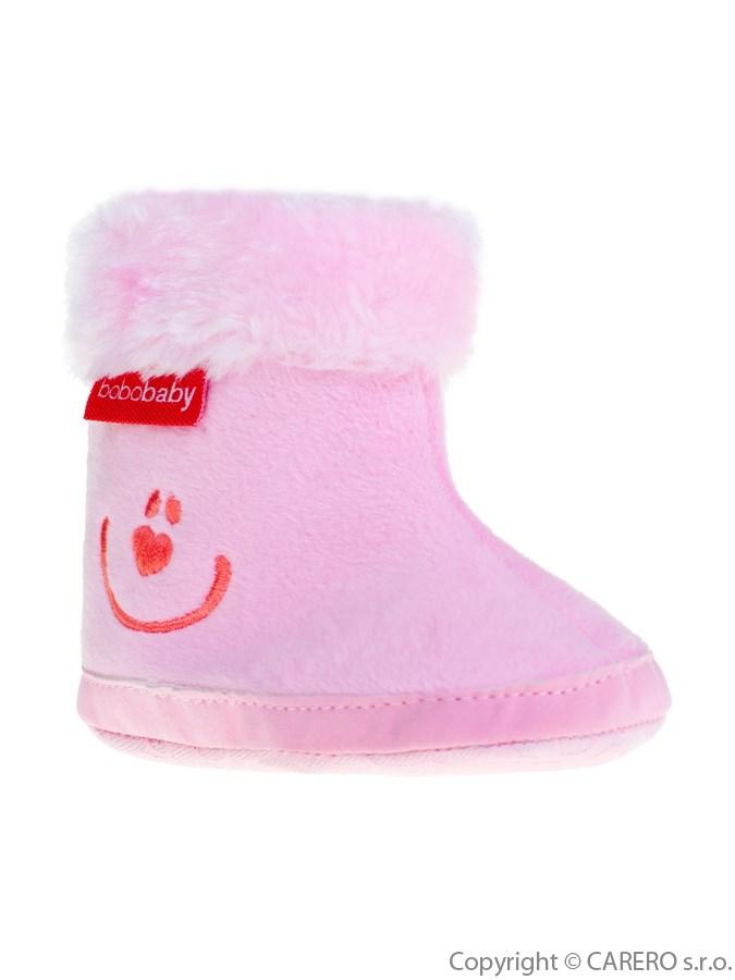 Gyermek téli cipő Bobo Baby 6-12h rózsaszín smile