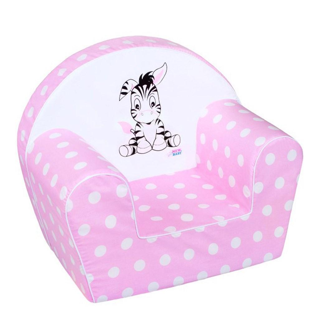 Gyermek fotel New Baby Zebra rózsaszín