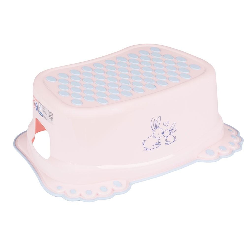 Gyerek csúszásgátlós fellépő fürdőszobába Bunny rózsaszín