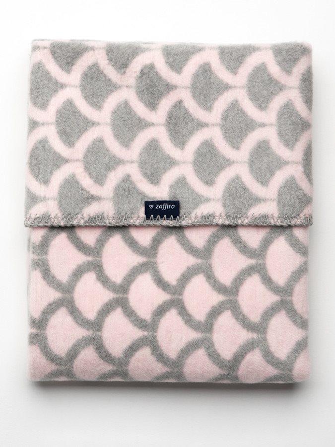Gyerek pléd Womar mintával 75x100 rózsaszín - szürke