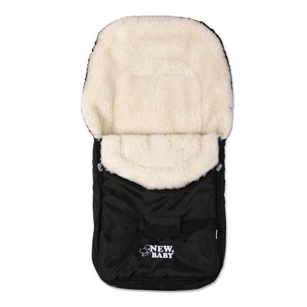 Téli lábzsák New Baby Classic Wool fekete