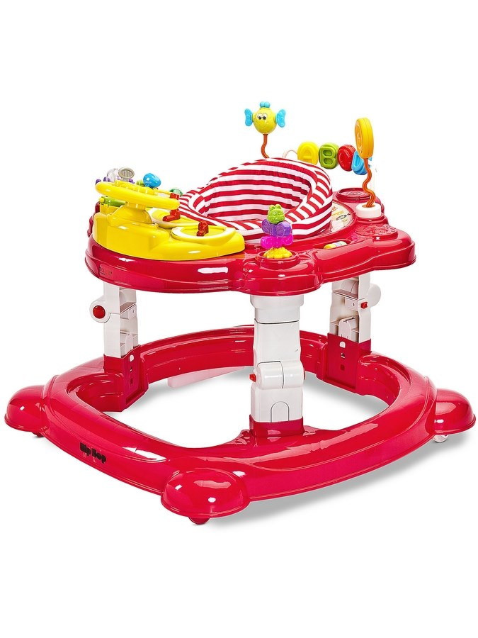 Gyermek bébikomp Toyz HipHop 3az1-ben piros