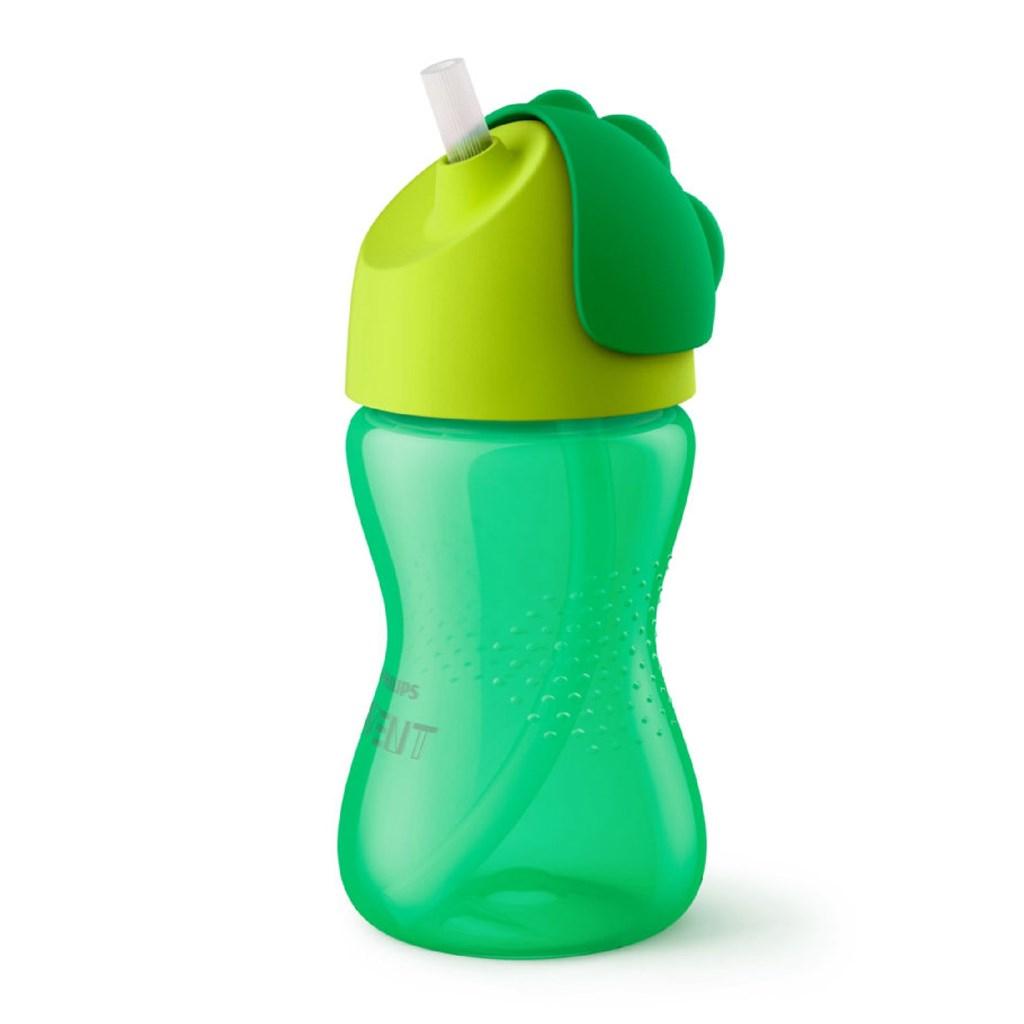 Bájos itató pohár hajlékony szívószállal Avent 300 ml zöld