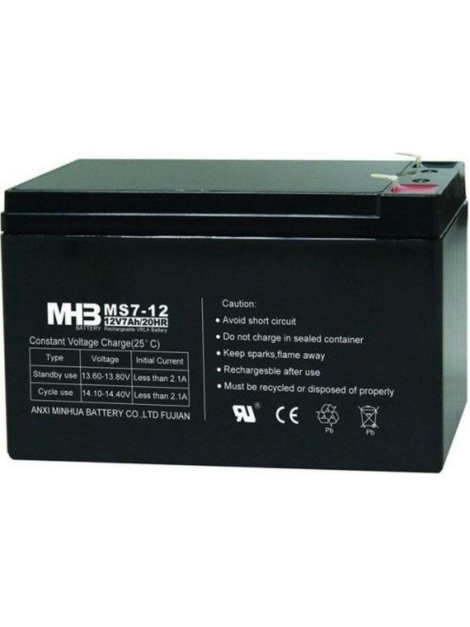 Pb akkumulátor MHB VRLA AGM 12V/7Ah (MS7-12)-faston 6,3 mm