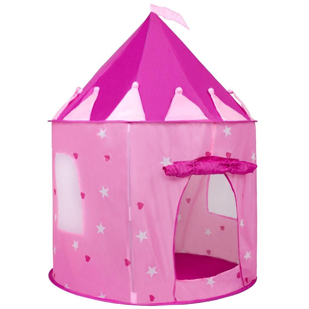 Gyermek sátor vár PlayTo rózsaszín