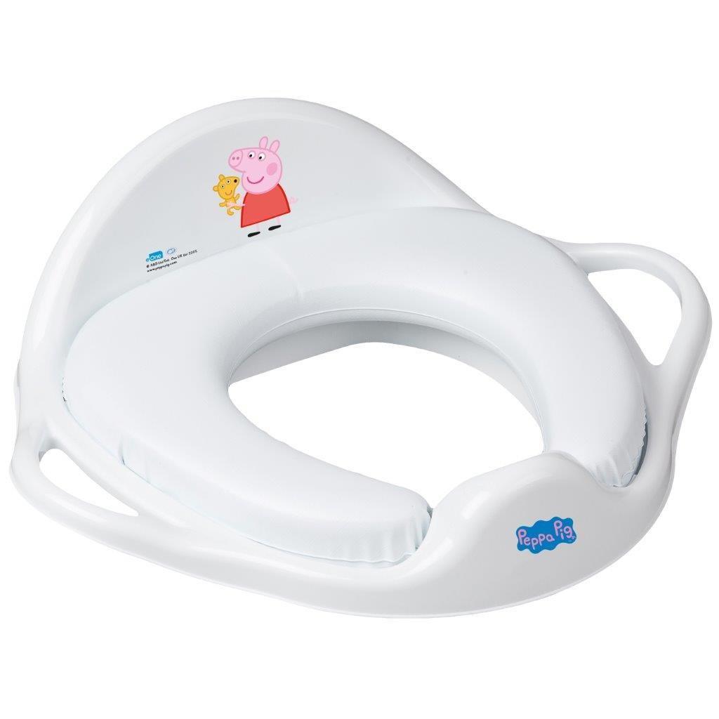 Gyermek WC ülőke puha Peppa Malacka white-pink