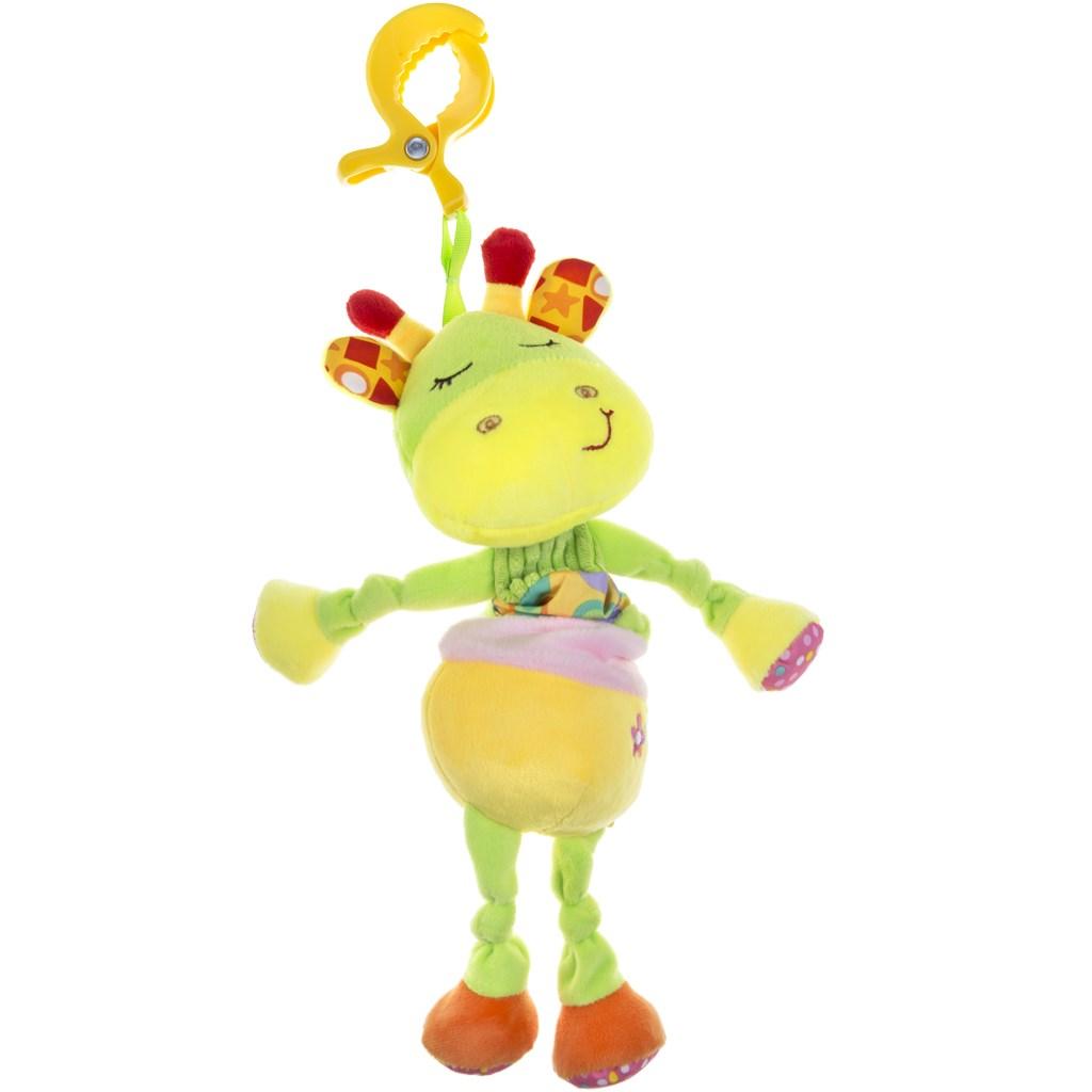 Plüss zenélő játék Akuku zsiráf