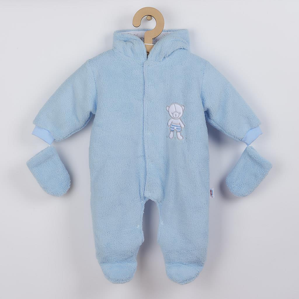 Téli kezeslábas New Baby Nice Bear kék