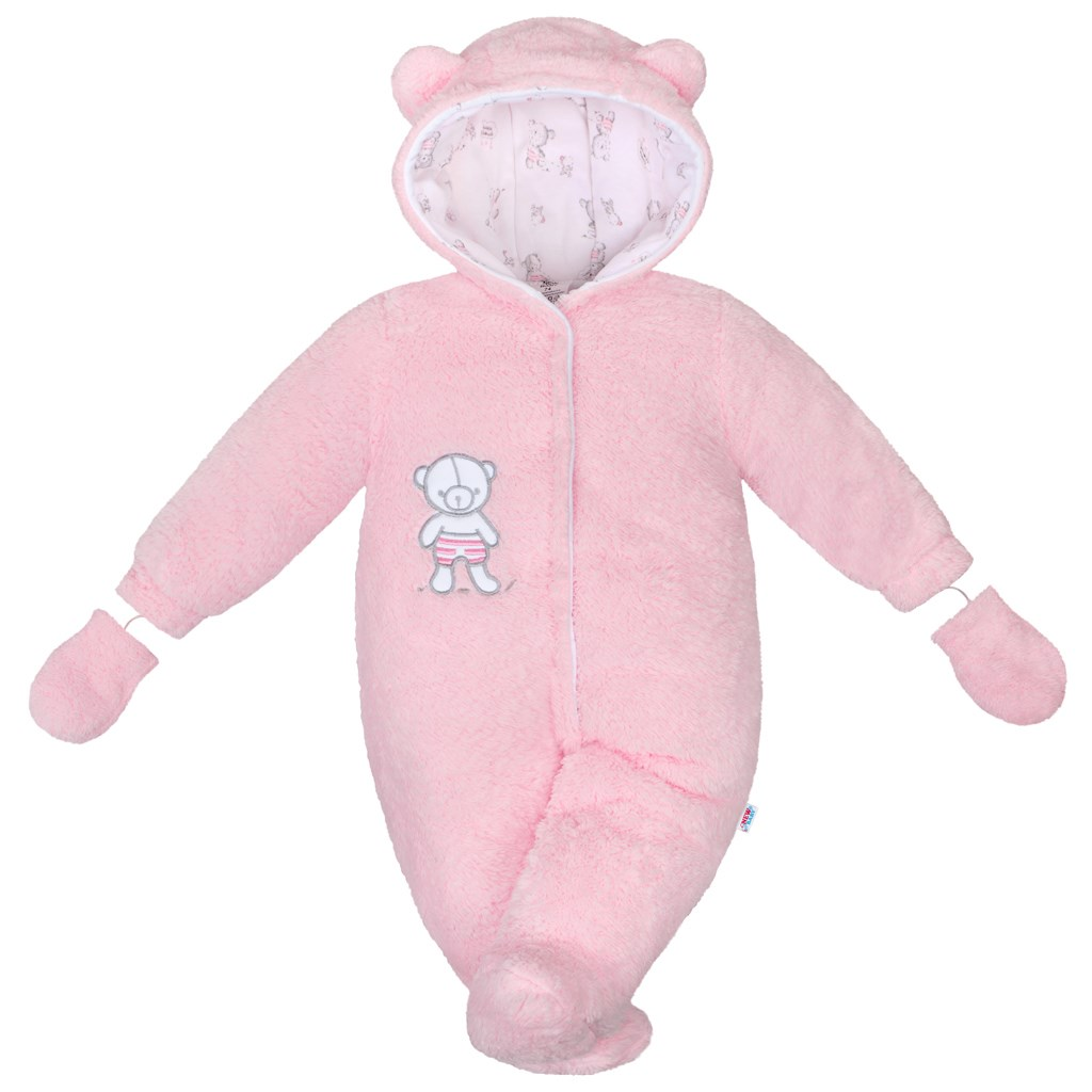 Téli kezeslábas New Baby Nice Bear rószaszín