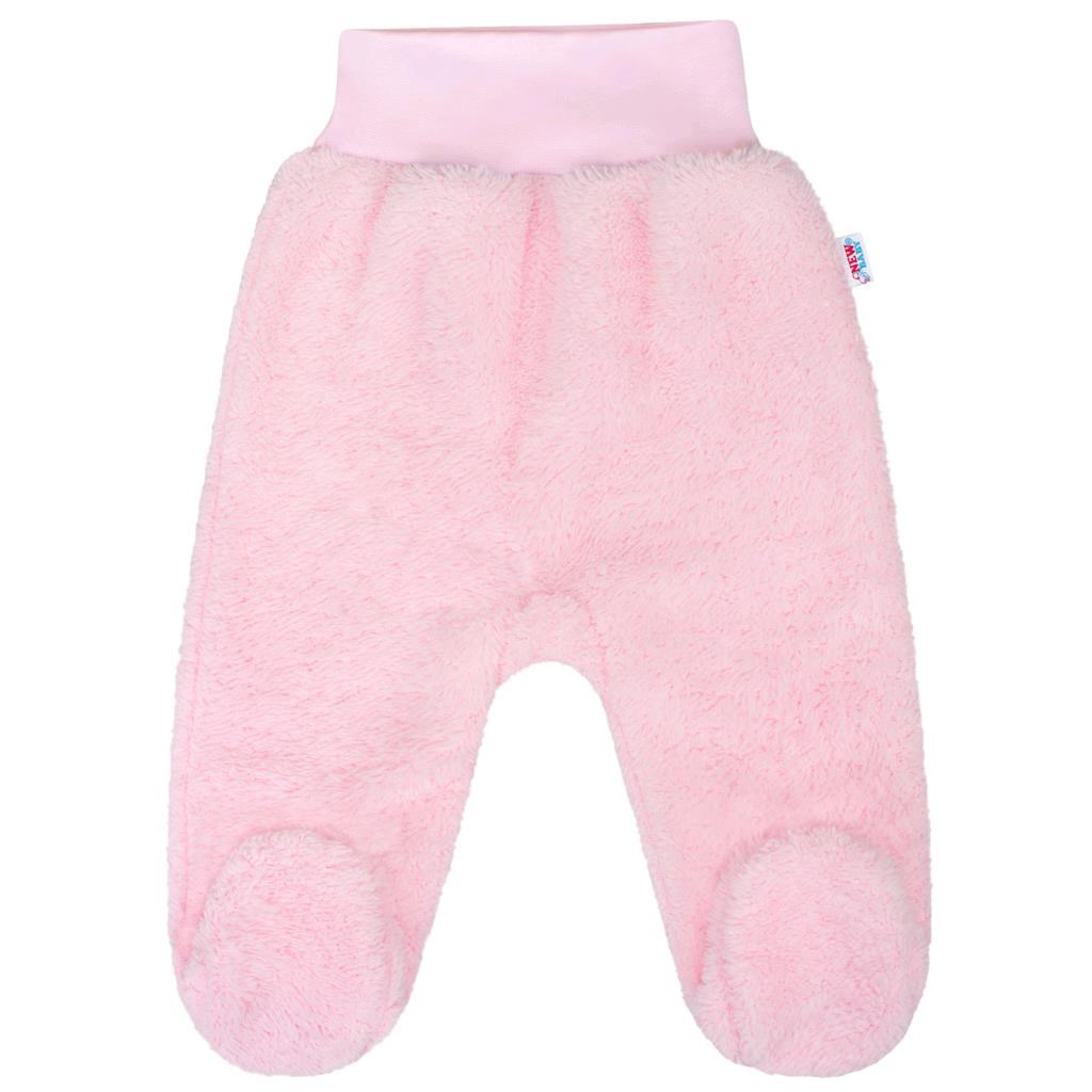 Baba plüss lábfejes nadrág New Baby Nice Bear rózsaszín