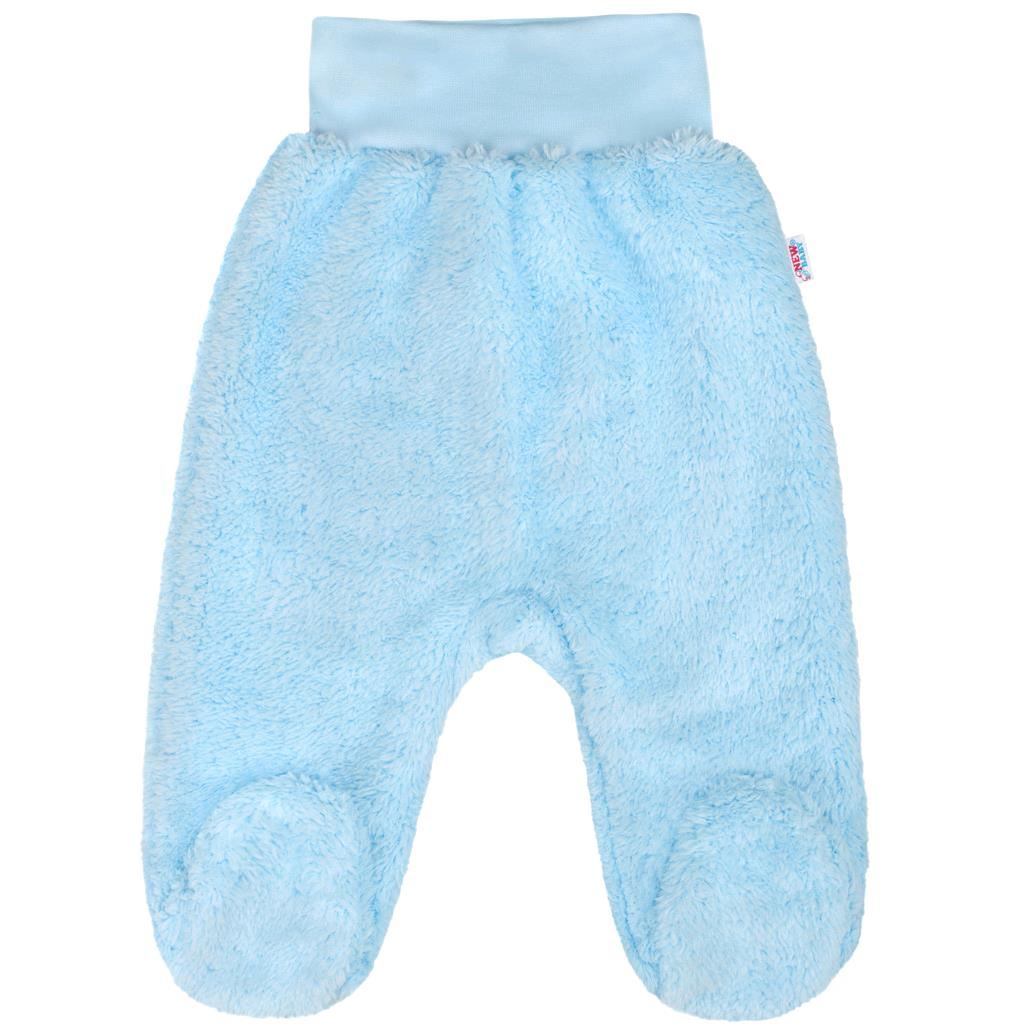 Baba plüss lábfejes nadrág New Baby Nice Bear kék