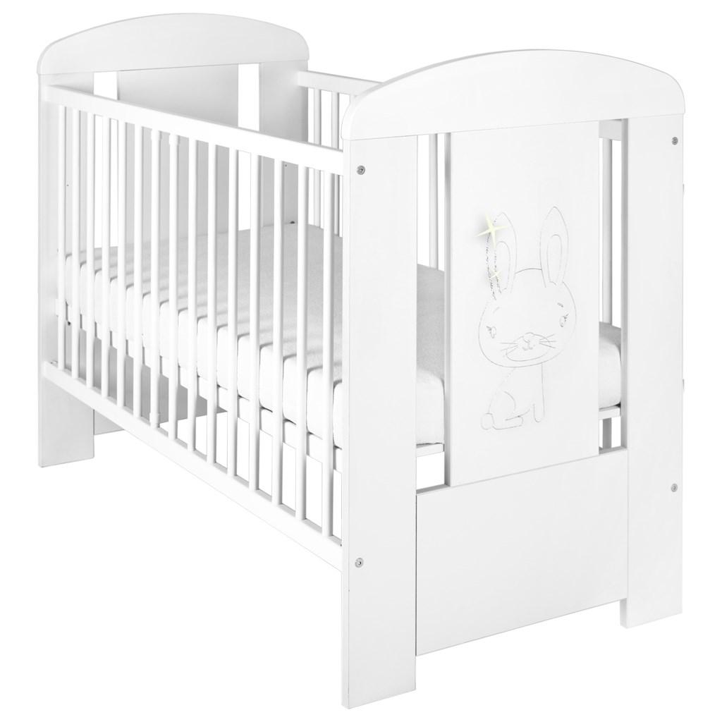 Gyermek kiságy New Baby Nyuszi standard fehér