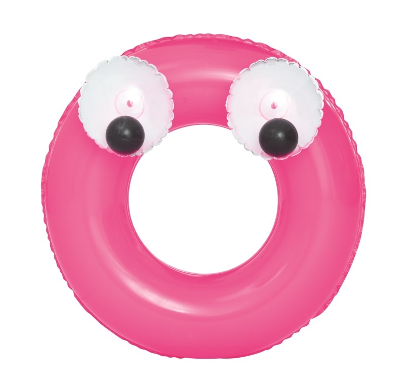 Gyermek felfújható úszógumi Bestway Big Eyes rózsaszín