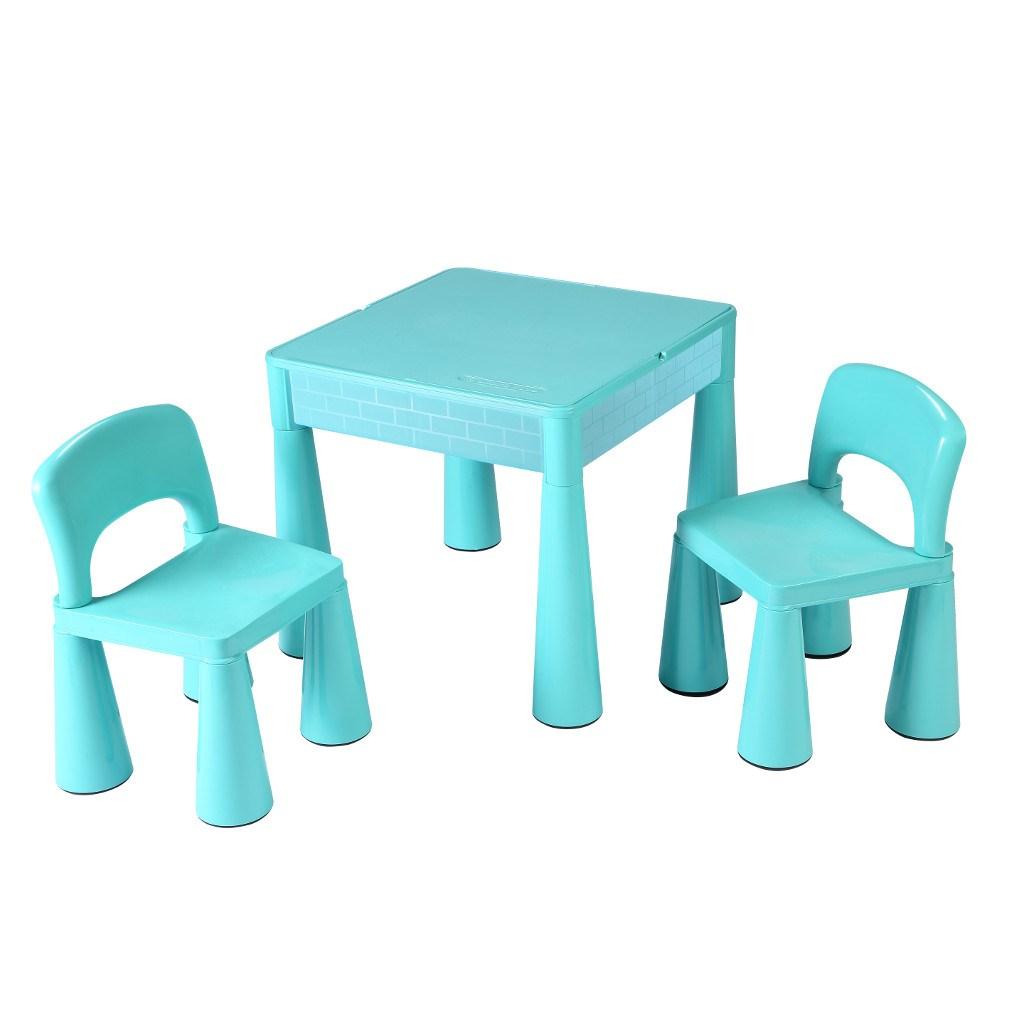 Gyerek szett NEW BABY - asztal két székkel menta