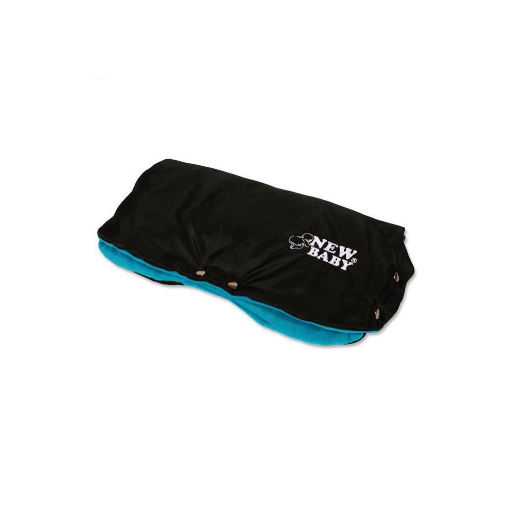 Kézmelegítő babakocsira Classic Fleece fekete/kék
