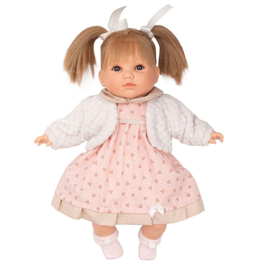 Luxus beszélő spanyol baba-kislány Berbesa Natalia 40cm