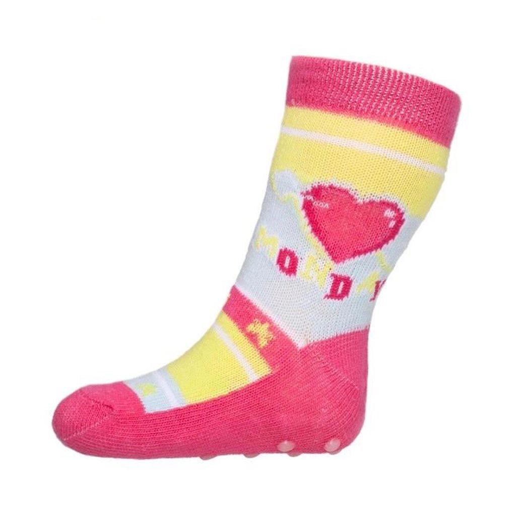 Baba zokni New Baby ABS-el rózsaszín monday