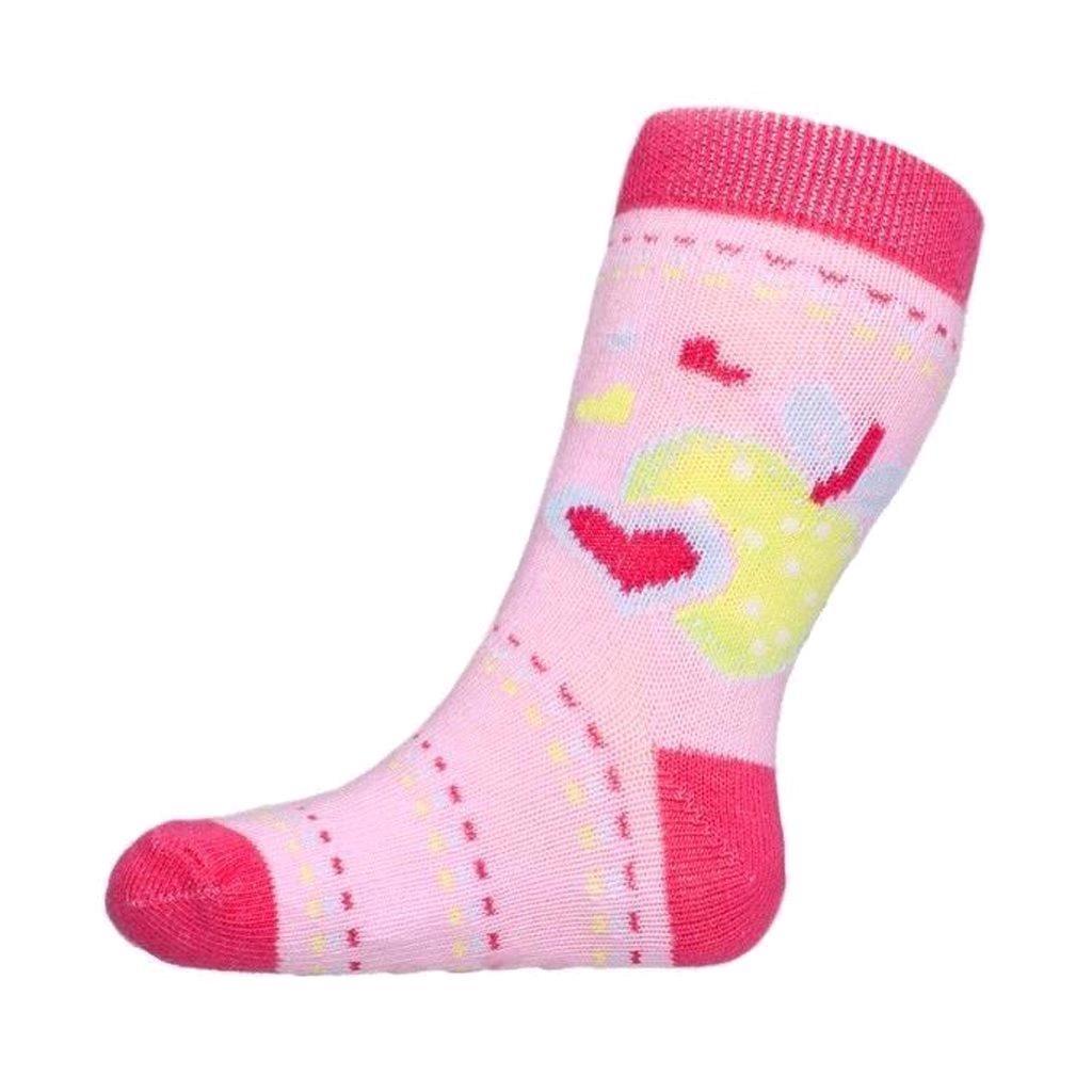 Baba zokni New Baby ABS-el rózsaszín alma