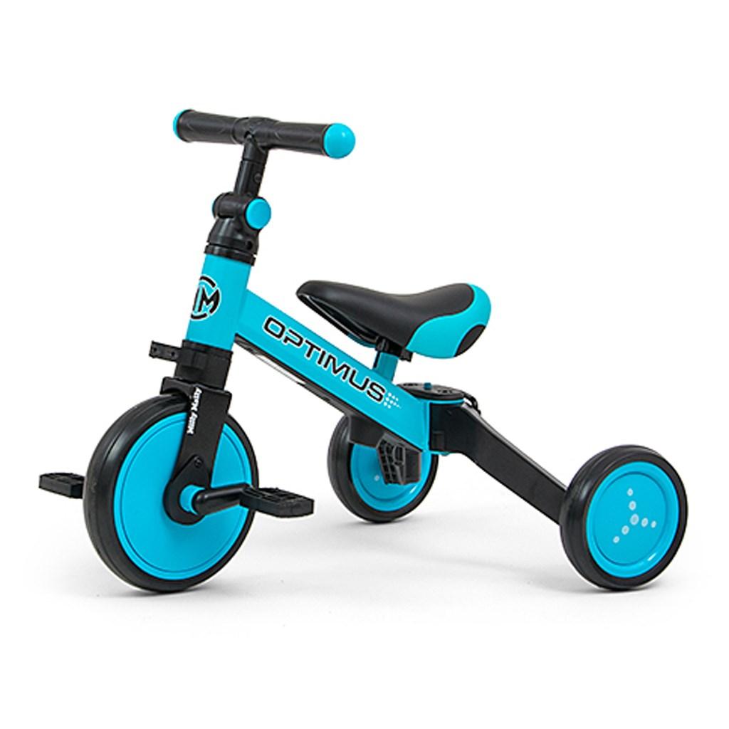 Gyerek háromkerekű bicikli 3az1-ben Milly Mally Optimus blue