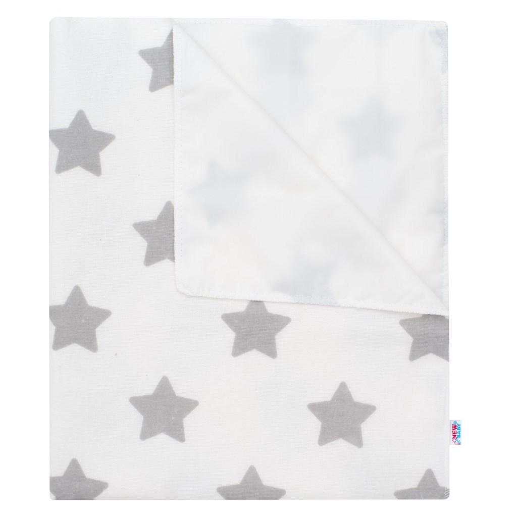 Vízálló flanel alátét New Baby csillagok