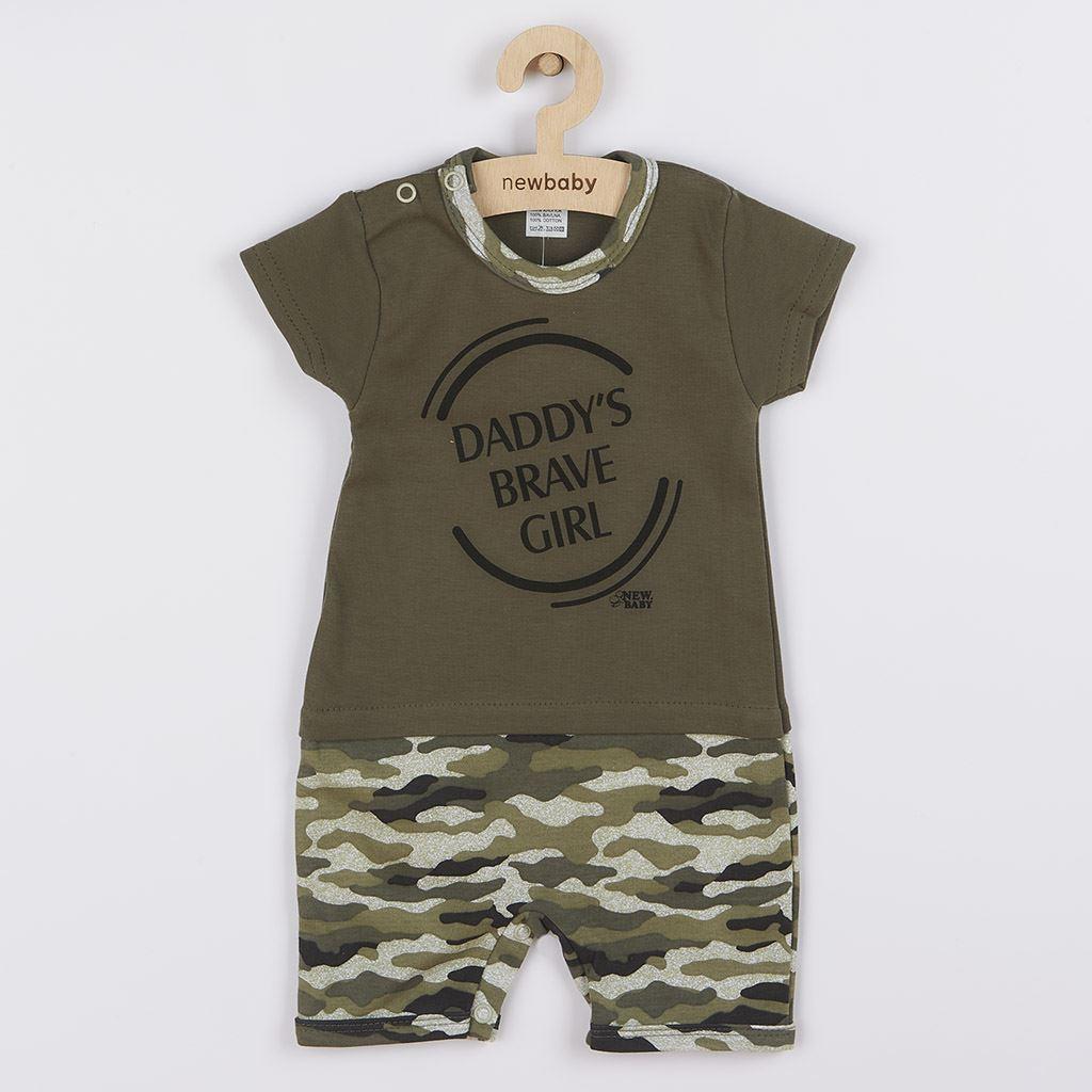 Baba nyári kezeslábas New Baby Army girl