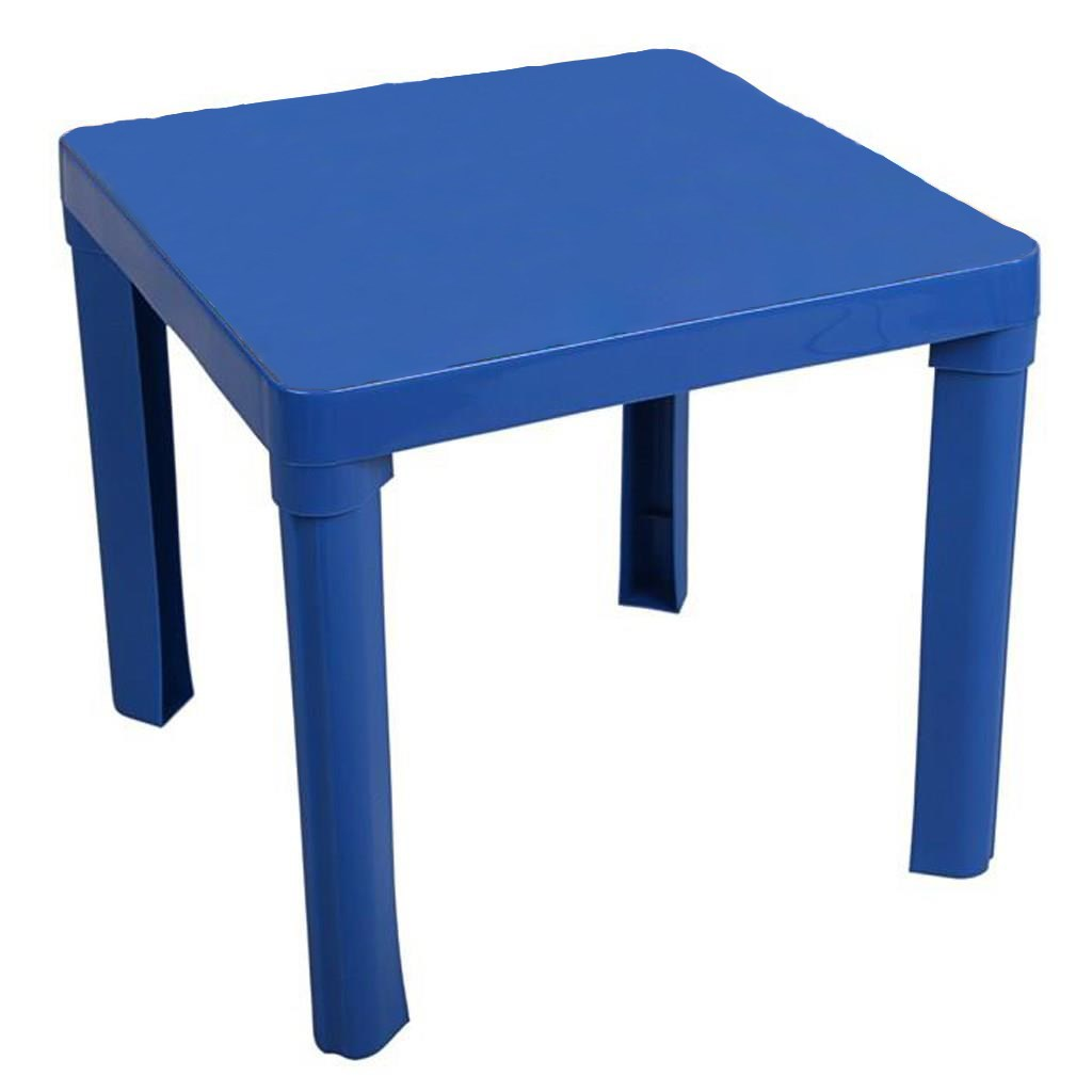 Gyerek kerti bútor- műanyag asztal kék kép nélkül