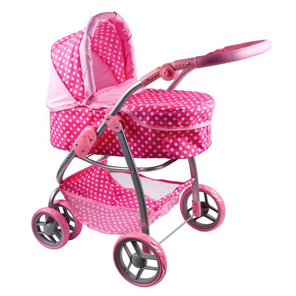 Multifunkciós játék babakocsi PlayTo Jasmínka világos rózsaszín (a csomagolás sérült)