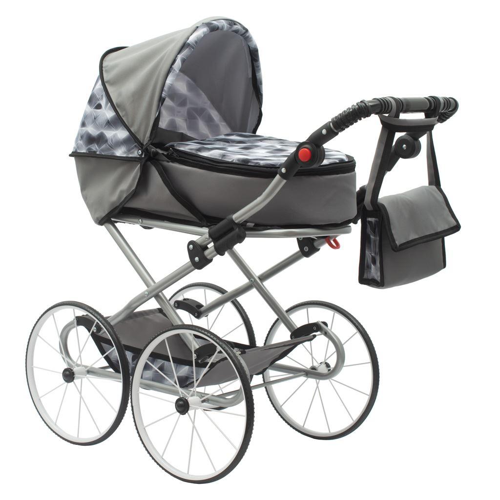 Gyermek Retro babakocsi babáknak 2az1-ben New Baby Nella szürke