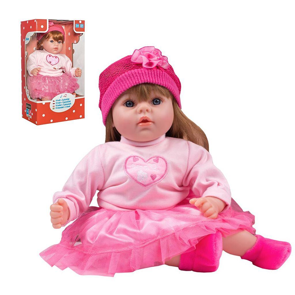 Magyarul beszélő és éneklő baba PlayTo Tina 46 cm (a csomagolás sérült)