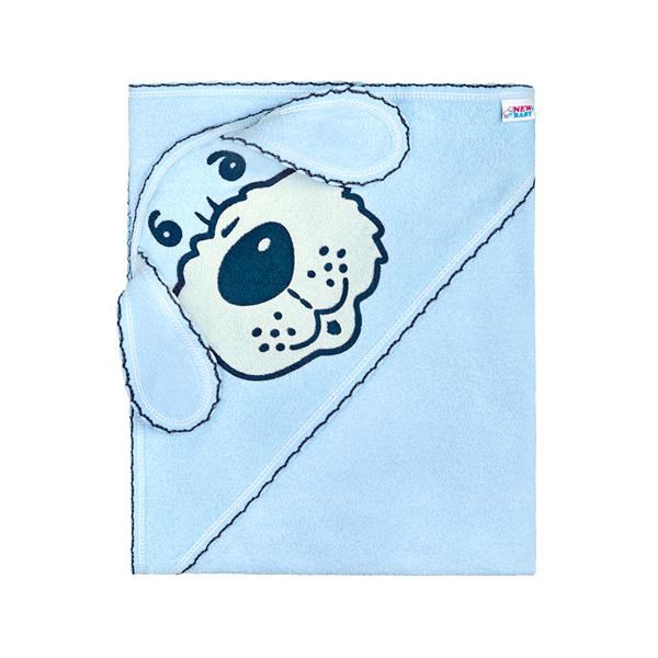 Frottír törölköző 80x80 kék kutyus