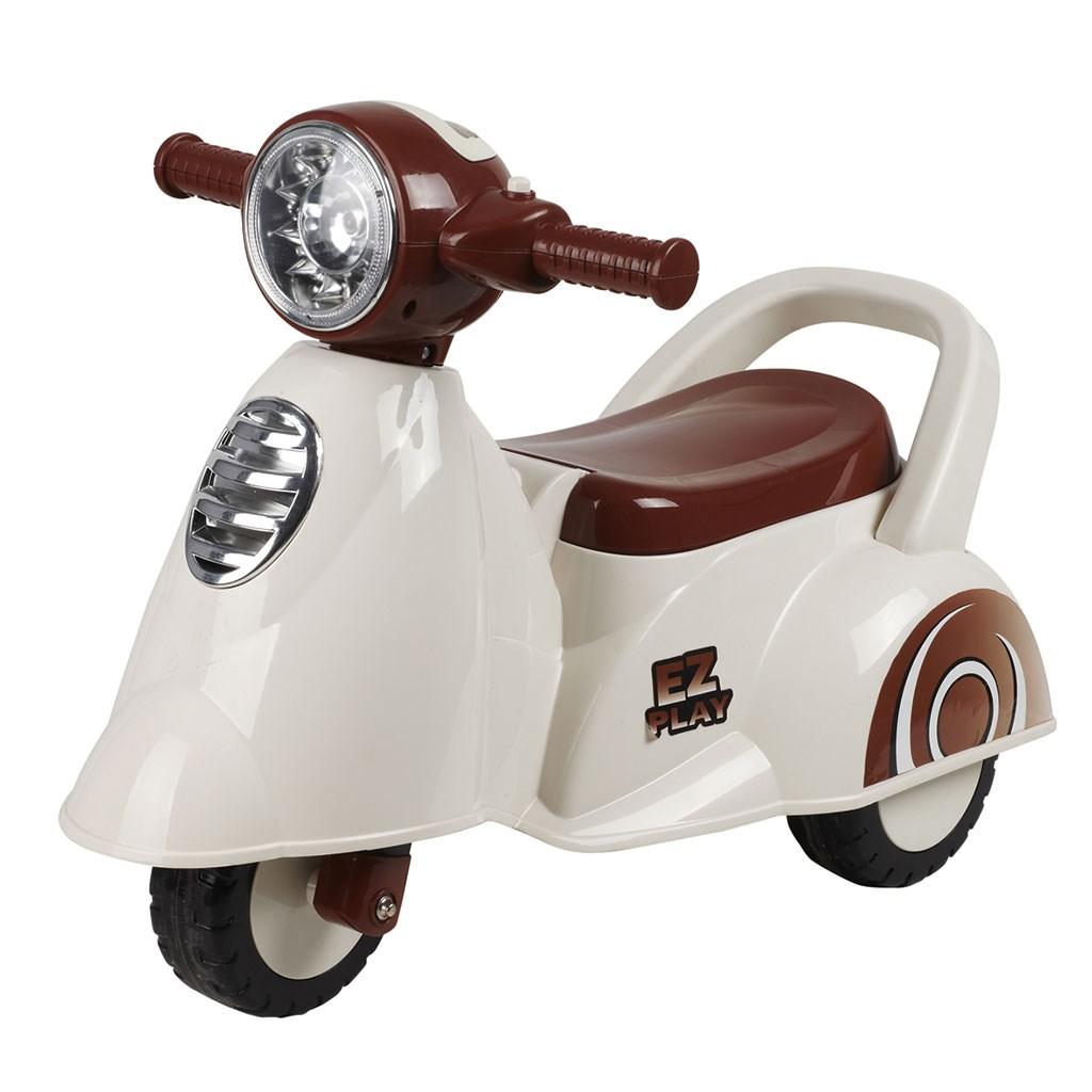 Zenélő gyermekjármű Baby Mix Scooter fehér