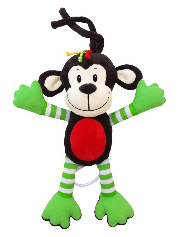 Gyerek plüss zenélős játék Baby Mix majom