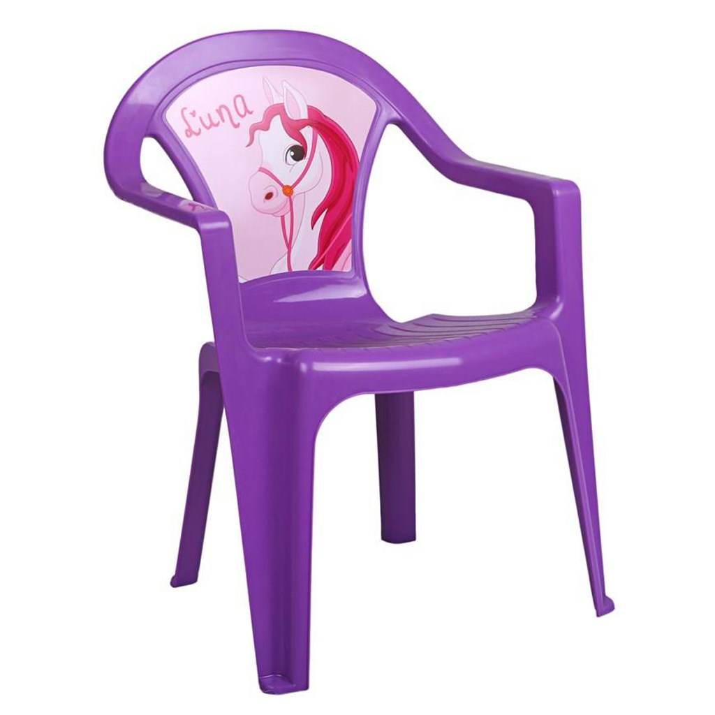 Gyerek kerti bútor- műanyag szék lila