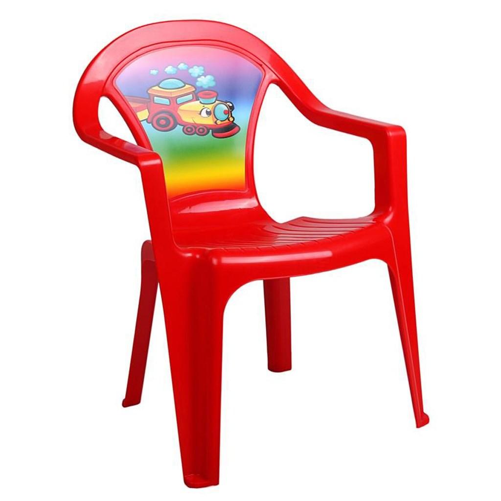 Gyerek kerti bútor- műanyag szék piros