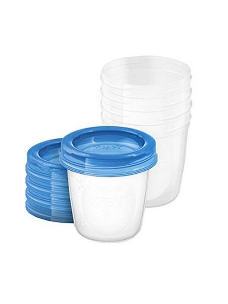 Via pohár szet tetővel Avent 180 ml - 5 db