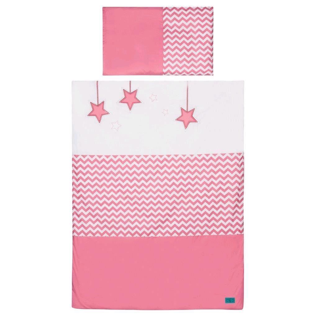 6-részes ágyneműhuzat Belisima Csillag 100/135 rózsaszín